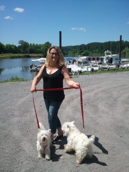 Madame et ses chiens